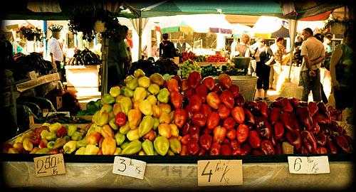 Sighisoara's Daily Market - Sighisoara, Romania