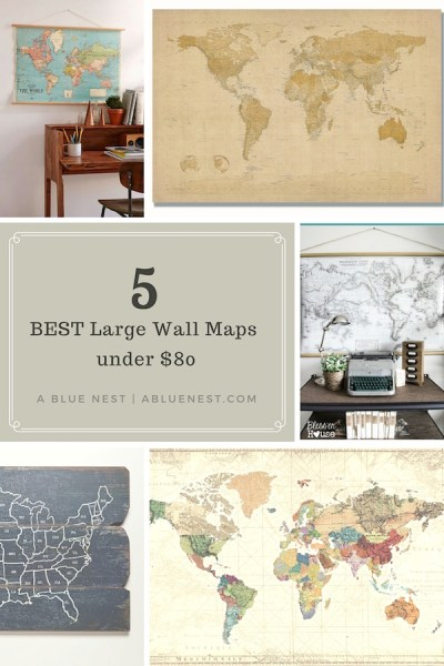 Best Wall Maps $80 & Under