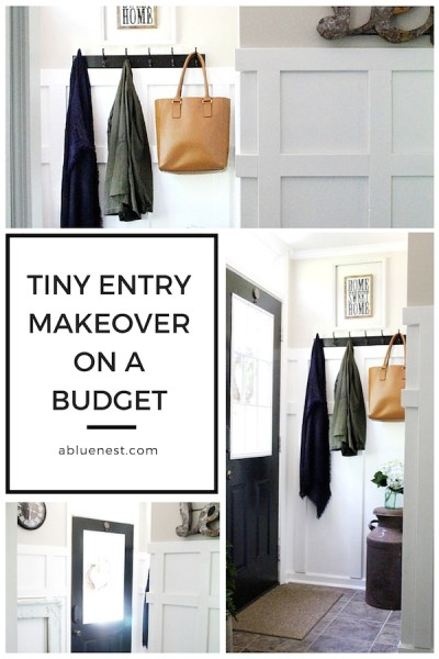 Tiny Entry Makeover on a Budget