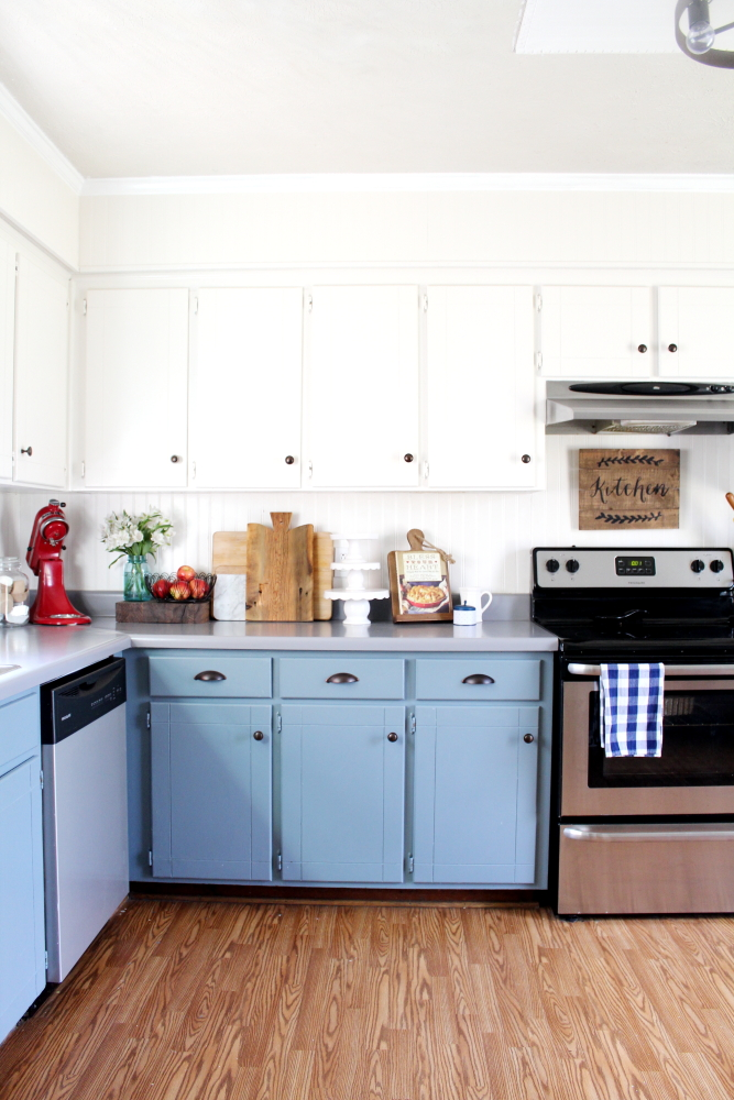 DIY Farmhouse Kitchen Remodel on a Budget - A Blue Nest