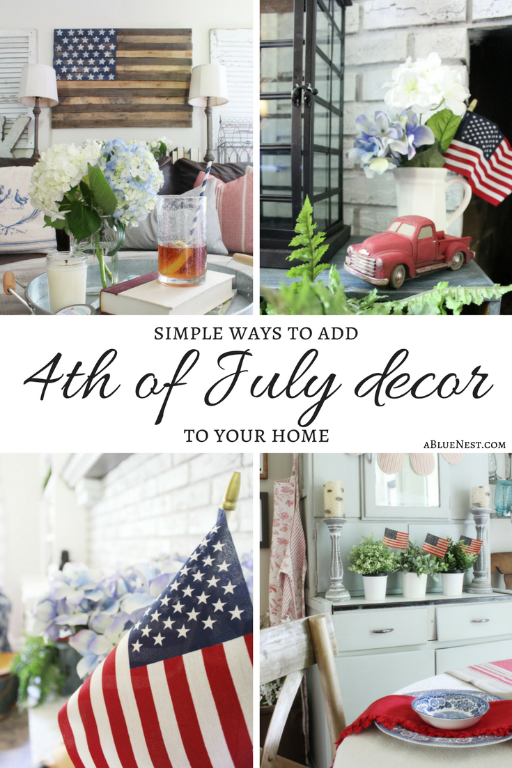 Simple 4th of July Decor