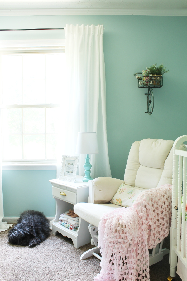 feminine, floral, baby girl, cottage inspired, girl's nursery