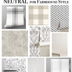 The Best Neutral Wallpaper for Farmhouse Style