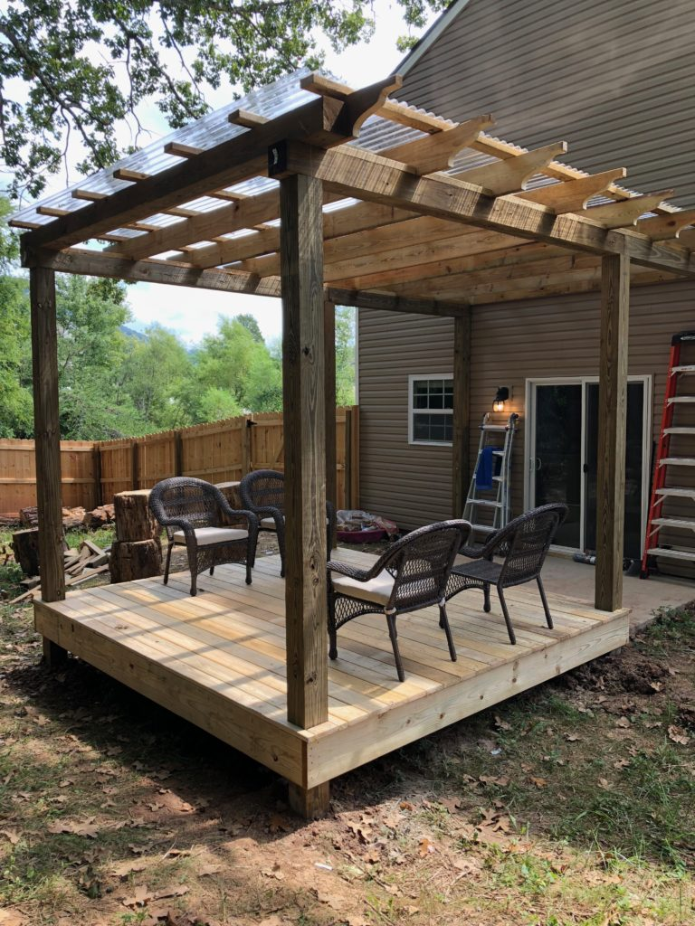 Outdoor Deck and Pergola Inspiration - A Blue Nest on Deck Inspiration  id=49737