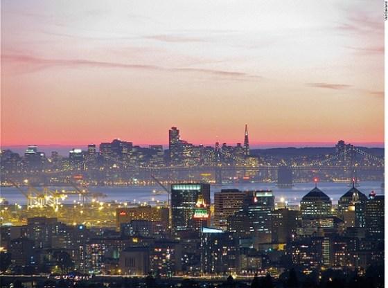 Oakland Skyline at Sunset