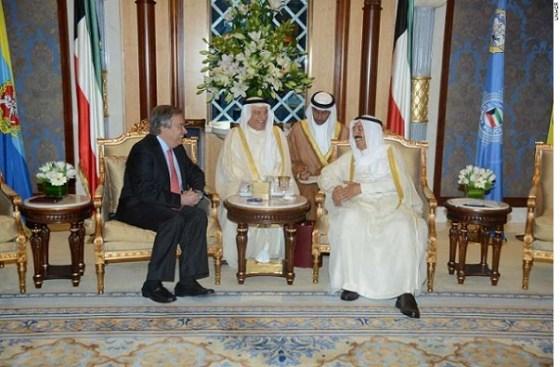 António Guterres -Sheikh Sabah Al-Ahmed Al-Jaber Al-Sabah