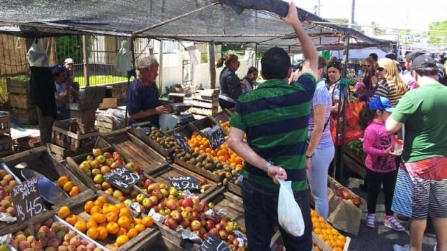 Obst-/Gemüsestand auf dem Markt