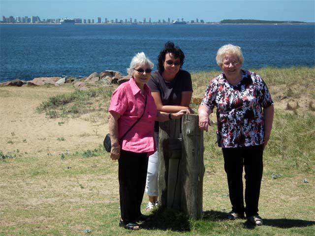 Im Hintergrund die Skyline von Punta del Este - es war ein bisschen windig...