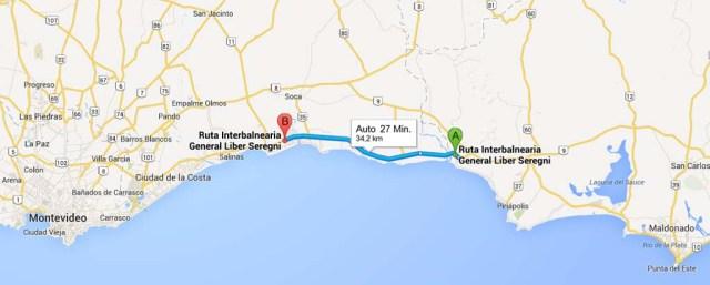Karte Fahrt IB