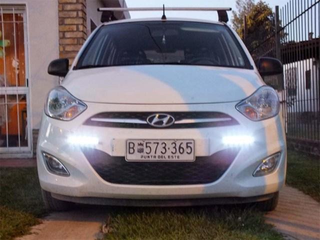 Unser Hyundai mit nachgerüstetem LED-Tagfahrlicht.