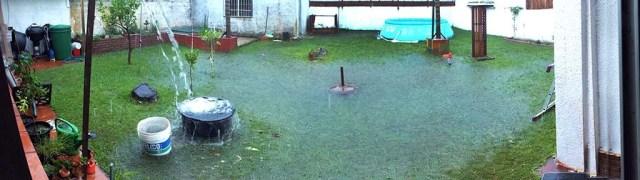 Unser Garten während dem Unwetter