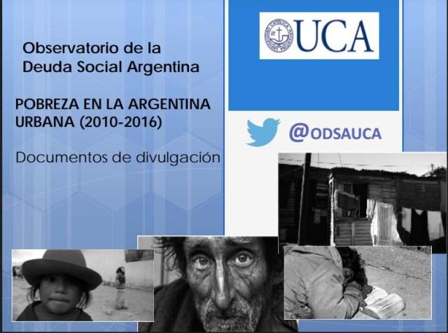 Die Universidad Católica (UCA) in Argentinien hat die Studie zur Armutssituation in Argentinien veröffentlicht