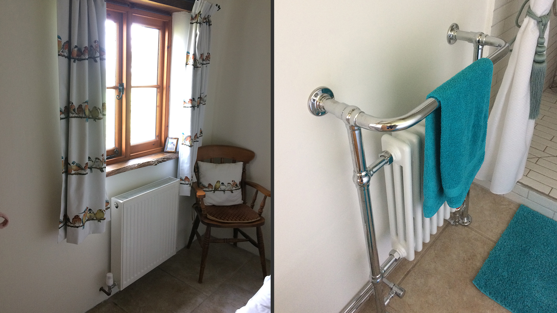 New heated towel rail + radiator upgrade installed by Abode