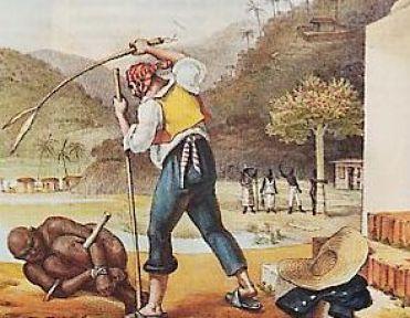 Scène de maltraitance d'esclave.