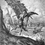 Don Quixote - Miguel de Cervantes - Tilting at windmills by Gustave Doré