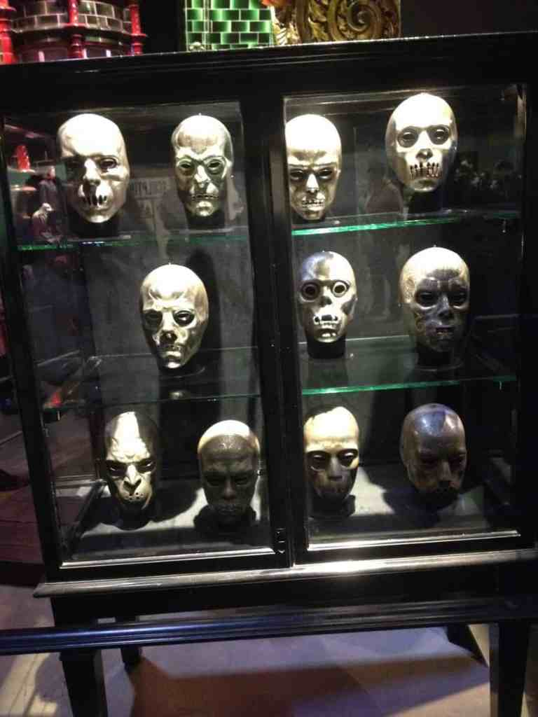 the death eaters masks on the Warner Bros Tour in London