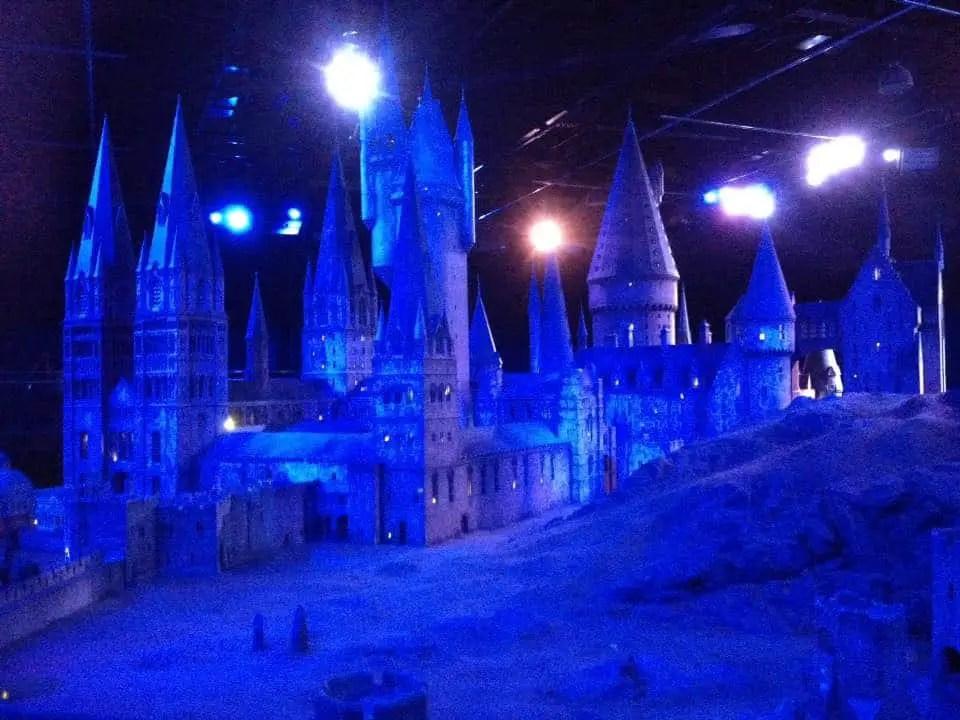 Hogwarts castle on the Warner Bros Tour