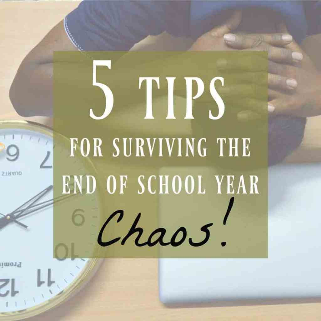 end of school year chaos