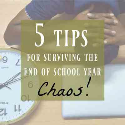 My 5 Best Tips That Will Make End of School Year Easier