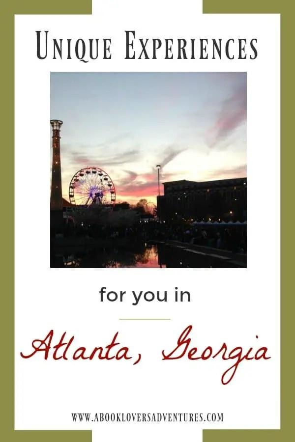 Unique experiences in Atlanta