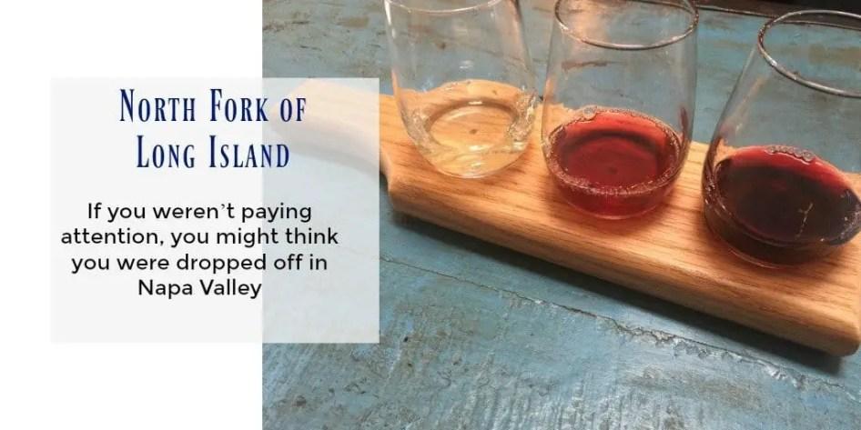 Wine tasting just east of Long Island