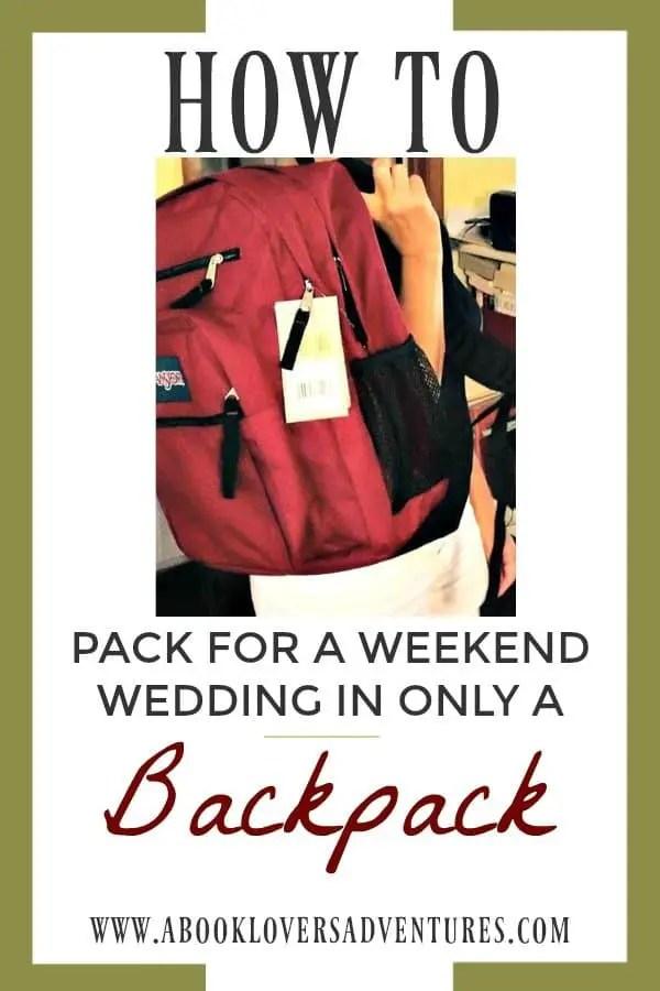 Travel Lite for weekend wedding