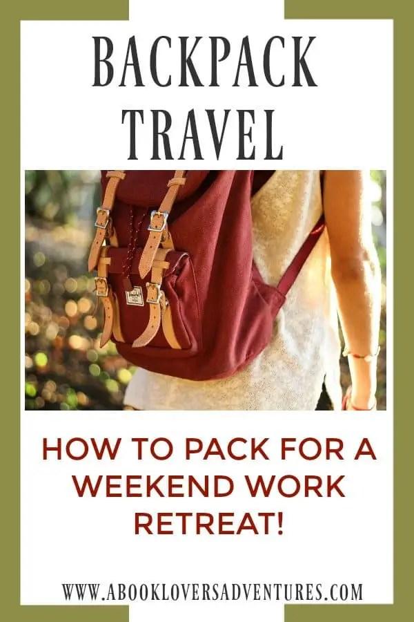 minimalist backpack travel