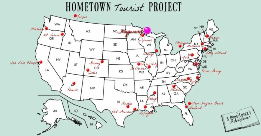 Map of Hayward, WI