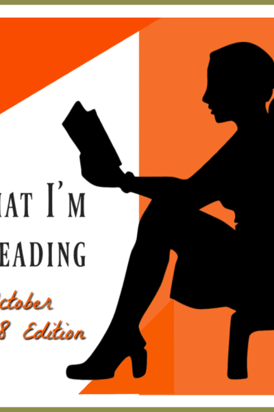 woman sitting and reading a book to show what I'm reading