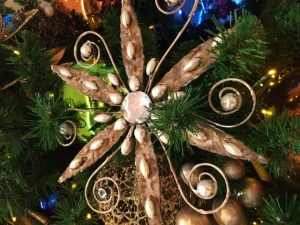 Decoration on the Christmas tree at the Contemporary Hotel