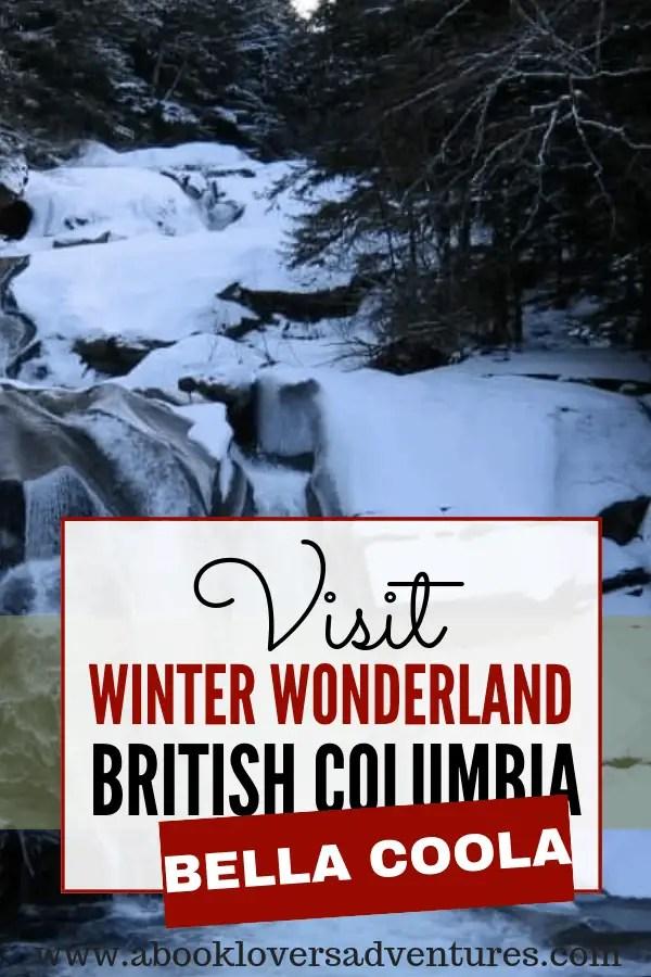 frozen waterfall in Bella Coola BC