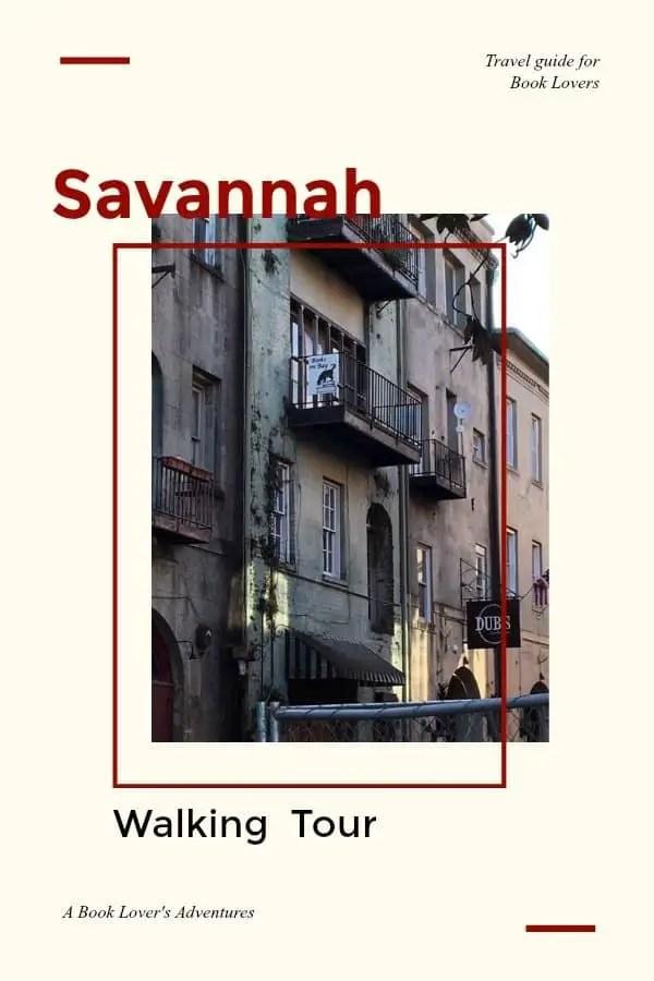 a book lover's walking tour savannah