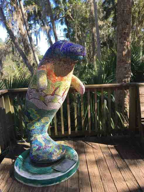 manatee statue at Blue Springs