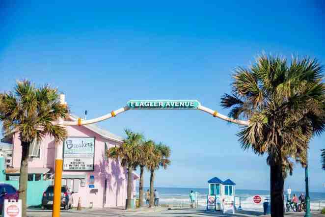 Flagler Ave in New Smyrna Beach Florida