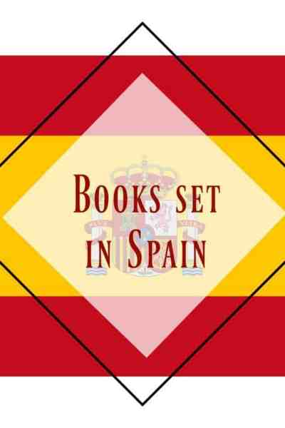 spanish flag with books set in Spain overlayed