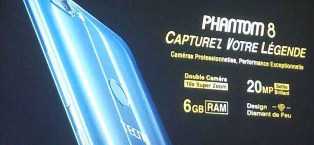 Pantom 8 Tecno mobile le prix 219 000 FCFA Afrique