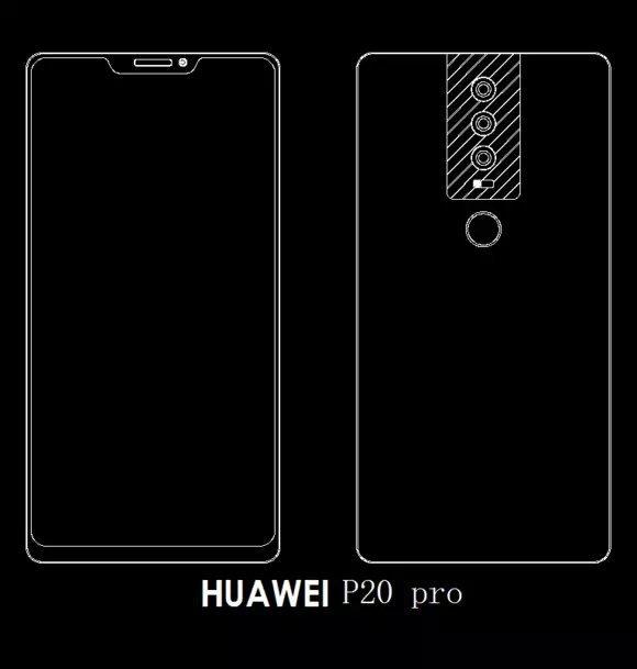 La conception de Huawei P20 Pro