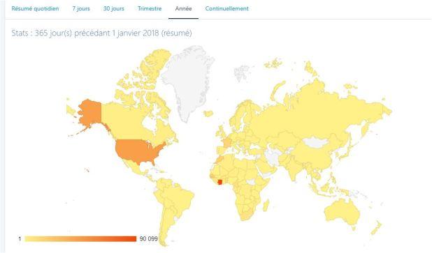 Localisation des lecteurs aboukam.net