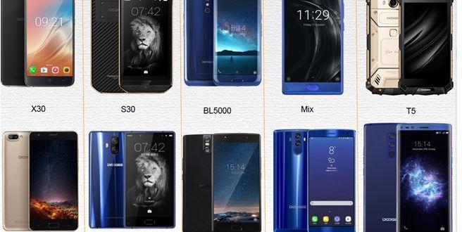Smartphone Doogee Mobile fiche technique BL7000, S30, MIX Lite, X30, X20L et X5 MAX