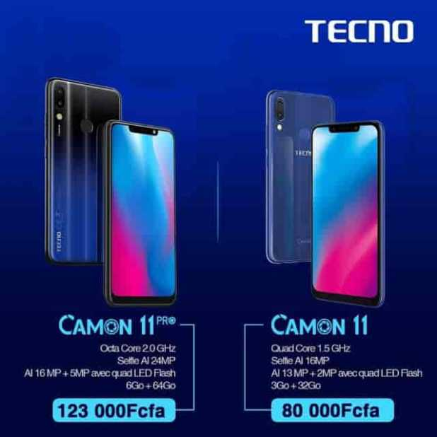 Les Camon 11 Pro & Camon 11 pour des Selfies plus intelligents et un Super grand ECRAN