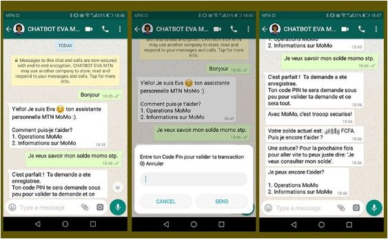 Zoom sur EVA de MoMo, le chatbot de MTN Mobile money