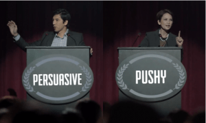 persuasive vs. pushy