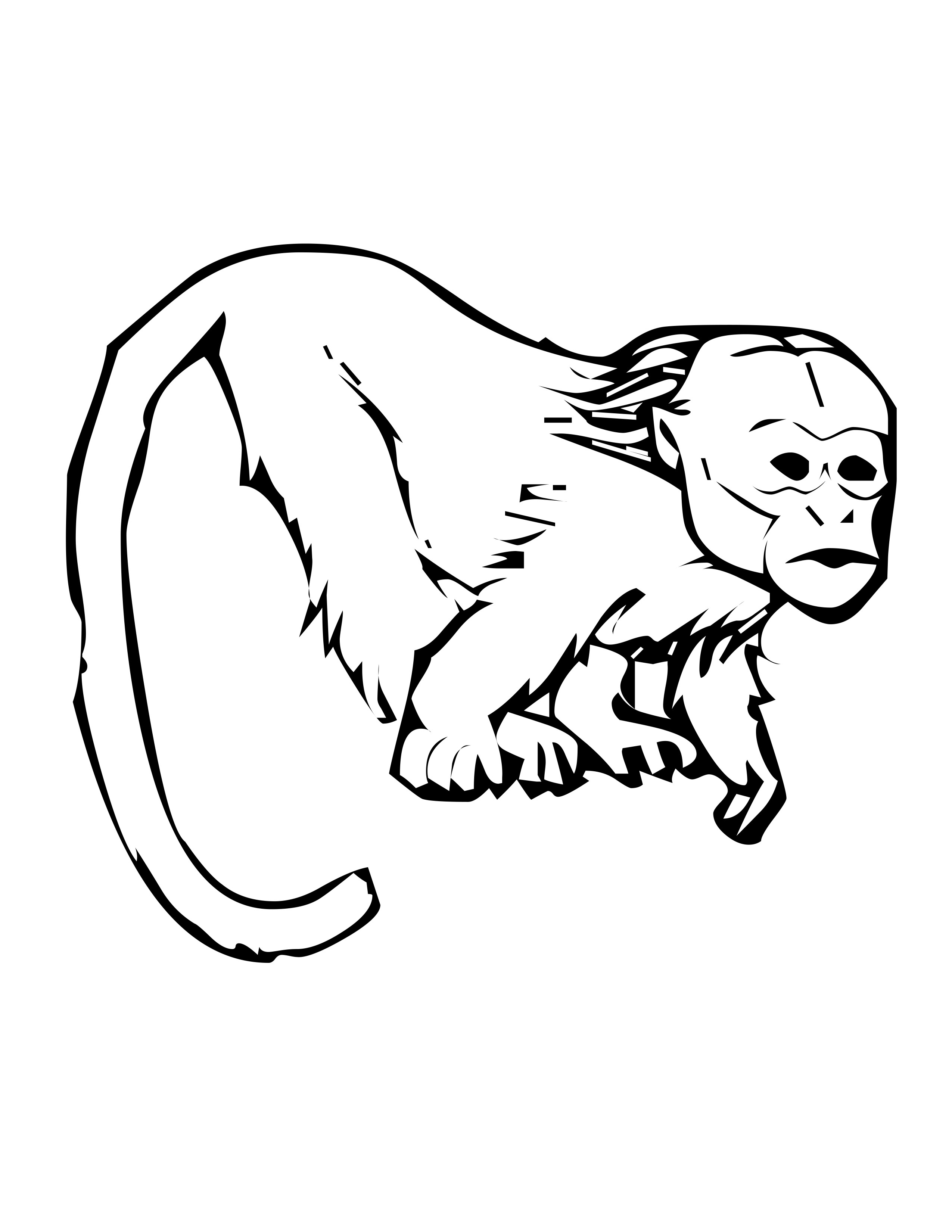 Primate Coloring Pages
