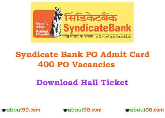 syndicate bank hall tickets