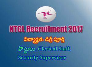 NTCL Recruitment 2017