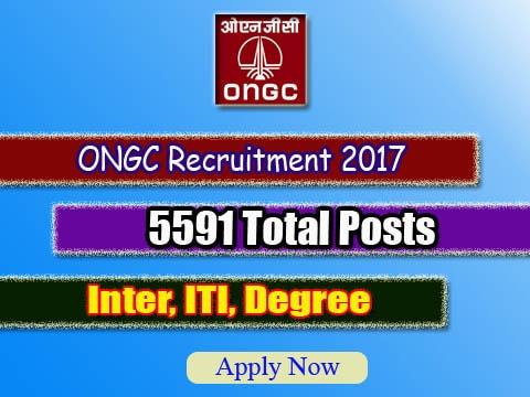 ONGC Apprentice Recruitment 2017 – Apply 5591 Apprentice Posts