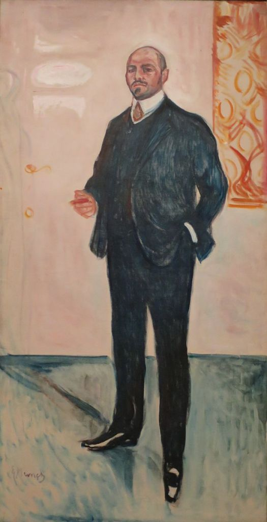 Walther Rathenau door Edvard Munch