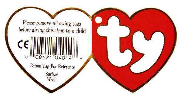 Ty Beanie Baby Babies Swing Heart Hang Tags