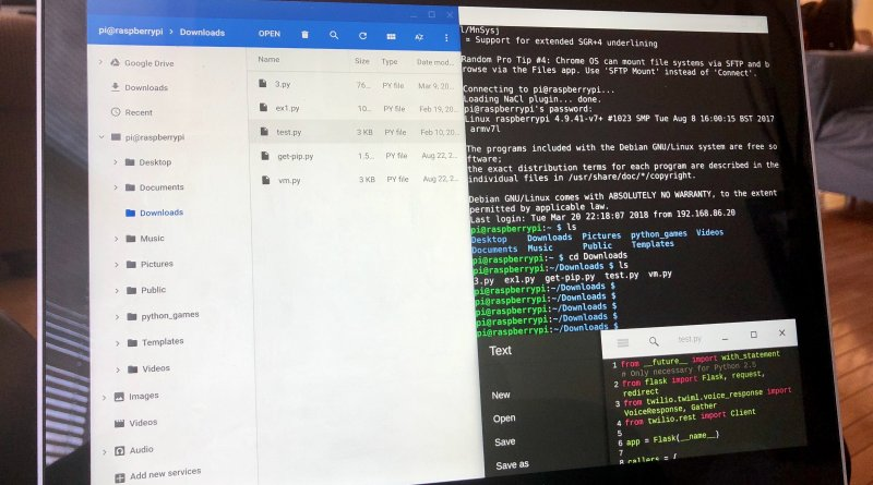 How I code on a Chromebook using Python and a Raspberry Pi