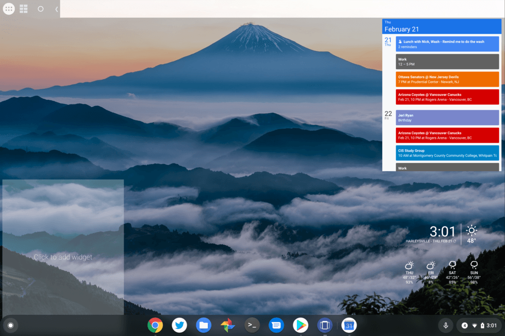 How to install Android widgets on a Chromebook – About